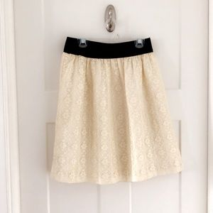 Downeast Cream Lace Skirt